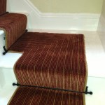 leisure select wilton fitted with blacksmith stairods by Heathwood carpets
